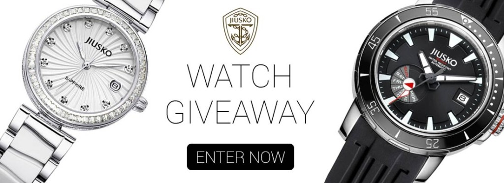 enter for a chance to win a jiusko watch