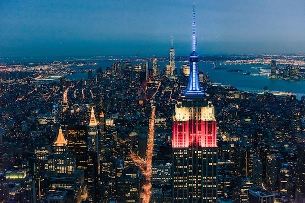 image of NYC at night