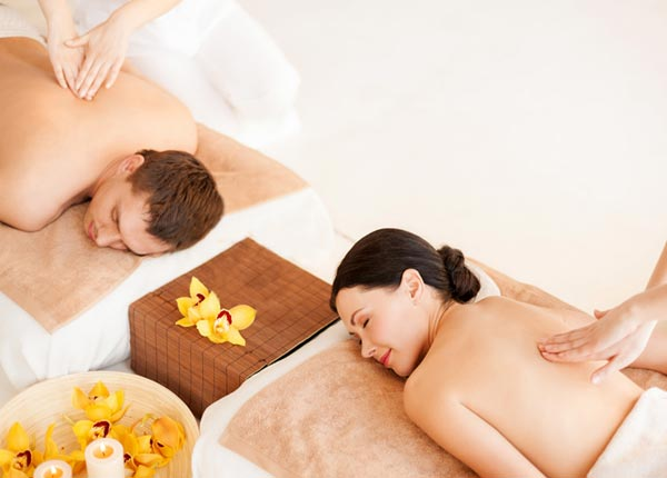side by side couples' massages