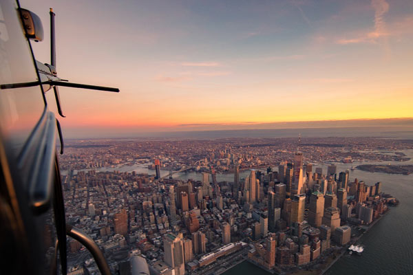 helicopter ride nyc skyline
