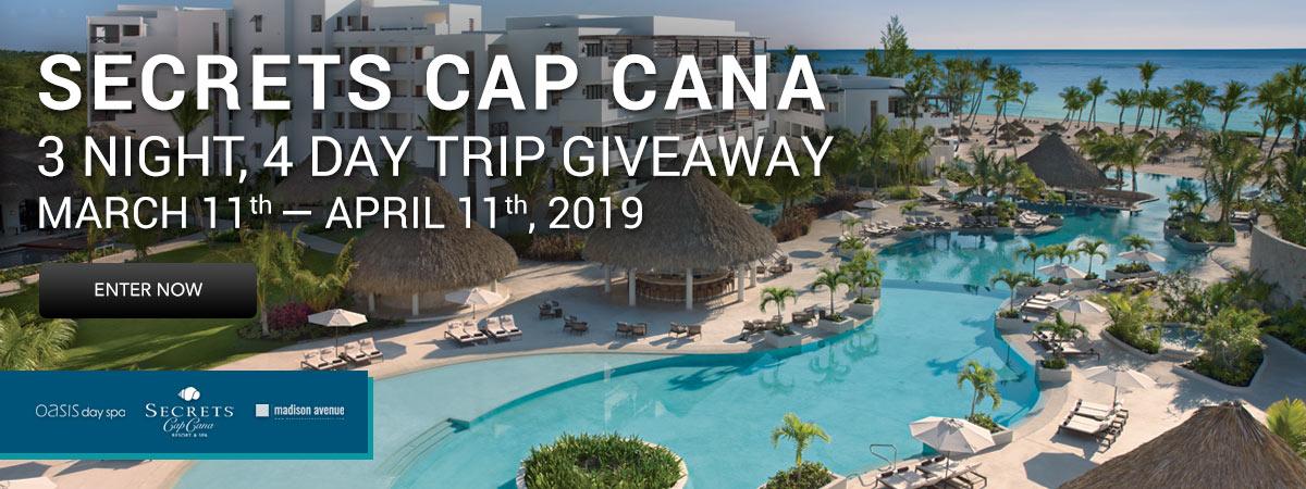 Secrets Cap Cana 3 Night, 4 Day Trip Giveaway