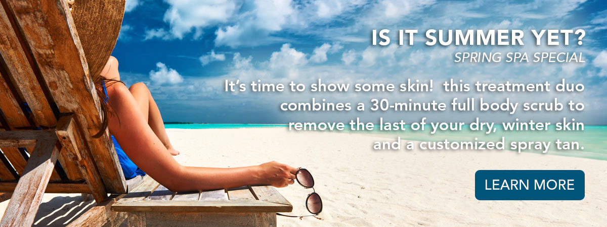 Is It Summer Yet? Body Scrub and Spray Tan Combination
