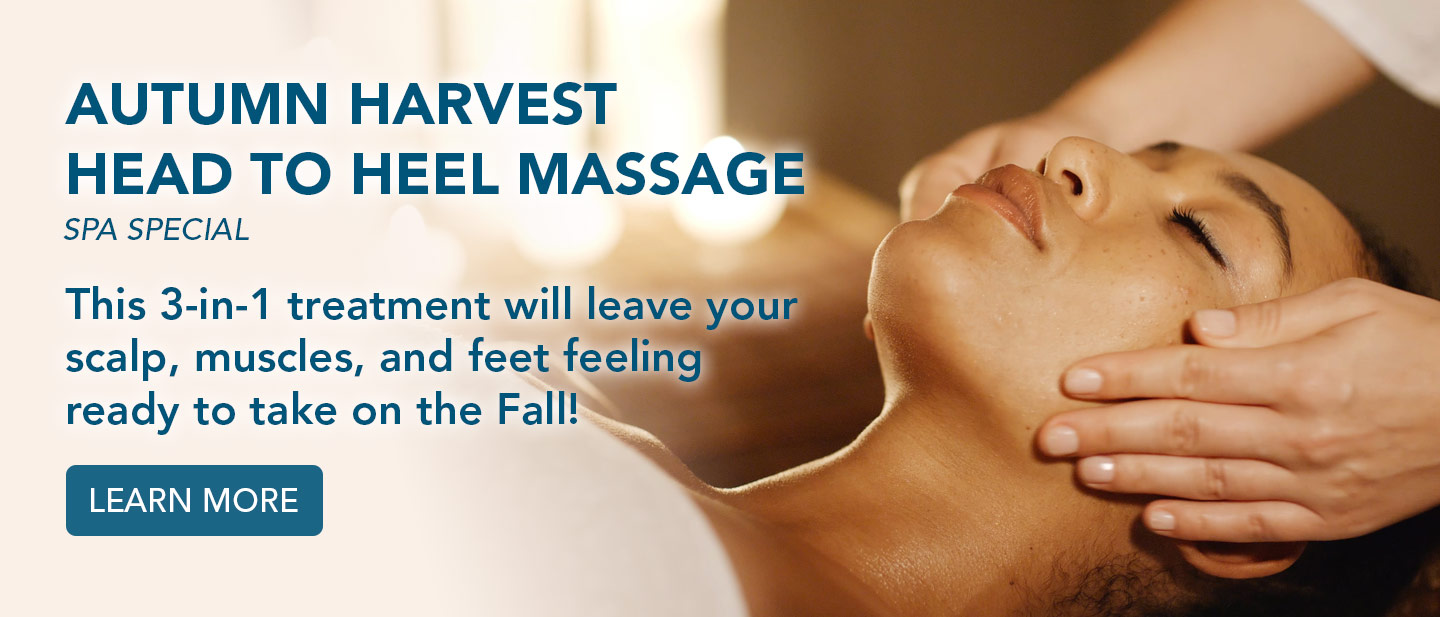 This 3-in-1 treatment will leave your scalp, muscles, and feet feeling ready to take on the Fall! Learn more