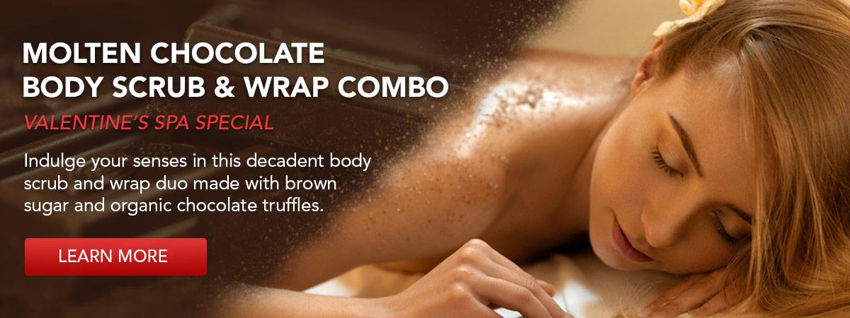 Molten Chocolate Body Scrub & Wrab Combo. Learn More